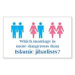 More Dangerous Than Jihadists Sticker (Rectangular