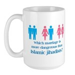 More Dangerous Than Jihadists Large Mug