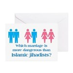 More Dangerous Than Jihadists Greeting Cards (Pack
