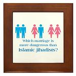 More Dangerous Than Jihadists Framed Tile