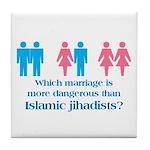 More Dangerous Than Jihadists Tile Coaster