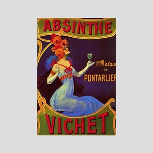 Absinthe Poster Vintage French Ad Rectangle Magnet