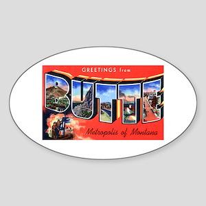 Butte Montana Greetings Oval Sticker