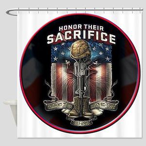 01026 HONOR THEIR SACRIFICE Shower Curtain