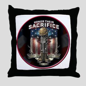 01026 HONOR THEIR SACRIFICE Throw Pillow