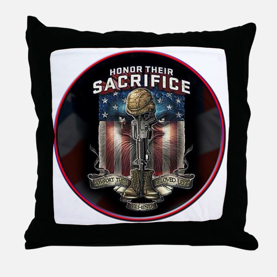 01026 HONOR THEIR SACRIFICE Throw Pillow