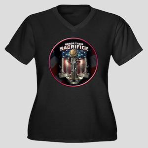 01026 HONOR THEIR SACRIFICE Plus Size T-Shirt
