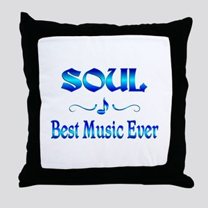 Soul Best Music Throw Pillow