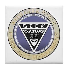 Seal of the Geek Tile Coaster