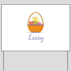 Easter Basket Lacey Yard Sign
