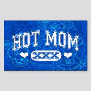 Hot Mom Sticker (Rectangle)