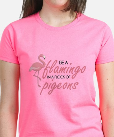 Be A Flamingo Women's Dark T-Shirt