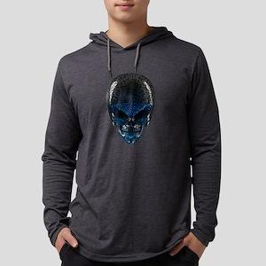 Alien Skull Mens Hooded Shirt