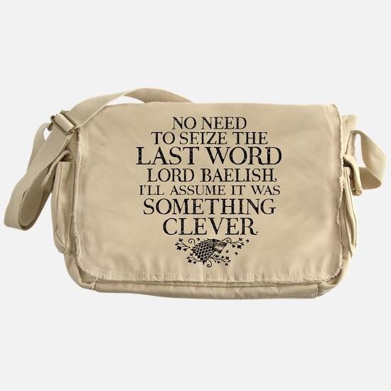 GOT Seize The Last Word Messenger Bag