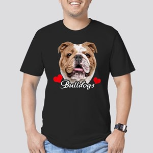 Love English Bulldog Men's Fitted T-Shirt (dark)