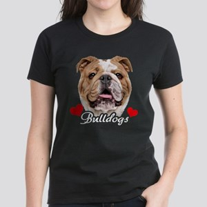 Love English Bulldog Women's Dark T-Shirt