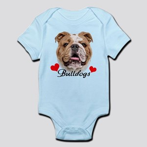 Love English Bulldog Infant Bodysuit