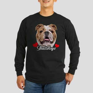 Love English Bulldog Long Sleeve Dark T-Shirt