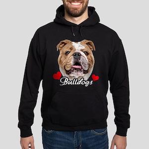 Love English Bulldog Hoodie (dark)