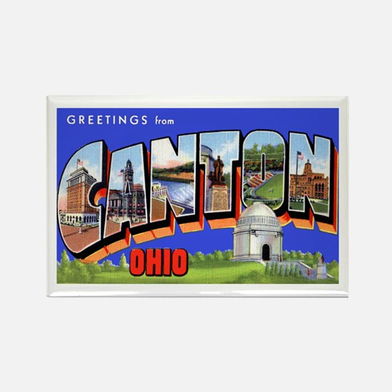 Canton Ohio Greetings Rectangle Magnet