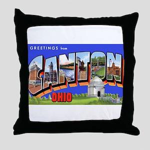 Canton Ohio Greetings Throw Pillow