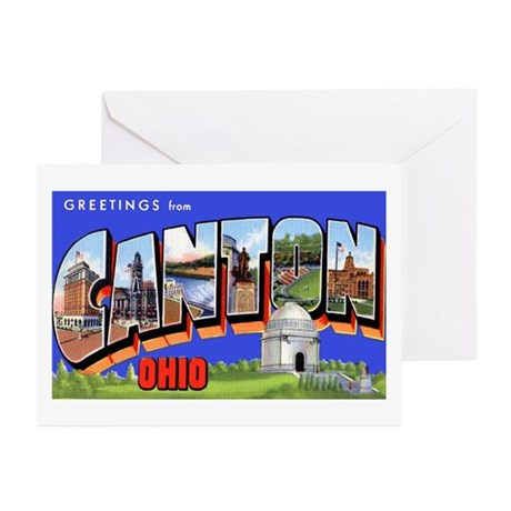 Canton Ohio Greetings Greeting Cards (Pk of 10