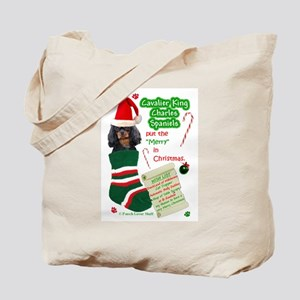 Cavalier (Black & Tan) Tote Bag
