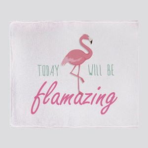 Today Will Be Flamazing Stadium Blanket