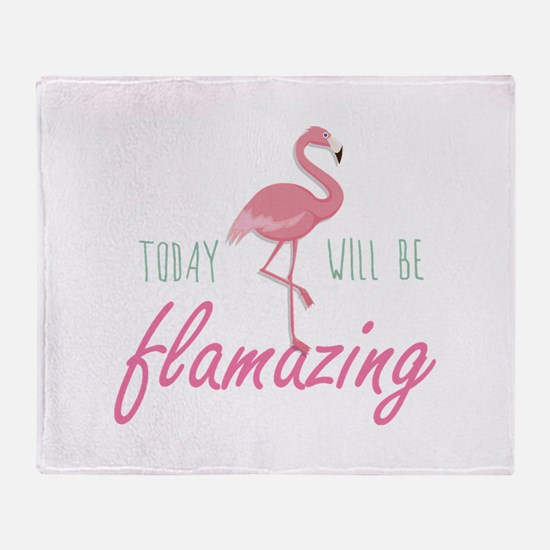 Today Will Be Flamazing Stadium Blanket
