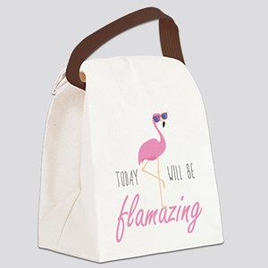 Today Will Be Flamazing Canvas Lunch Bag