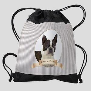 Boston Terrier Drawstring Bag