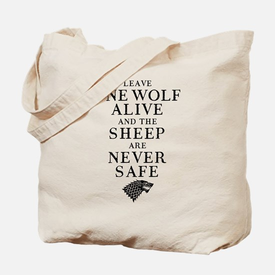 GOT Leave One Wolf Alive Tote Bag