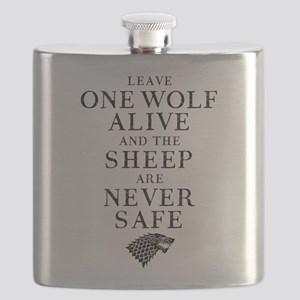 GOT Leave One Wolf Alive Flask