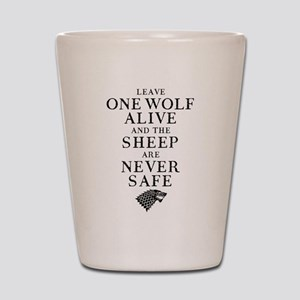 GOT Leave One Wolf Alive Shot Glass