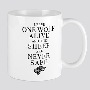 GOT Leave One Wolf Alive Mugs
