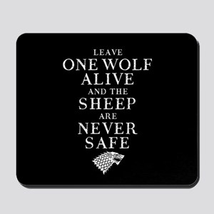 GOT Leave One Wolf Alive Mousepad