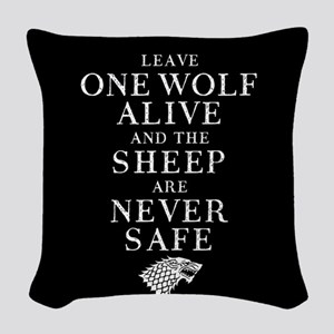 GOT Leave One Wolf Alive Woven Throw Pillow
