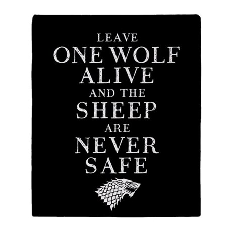 GOT LEAVE ONE WOLF ALIVE THROW BLANKET