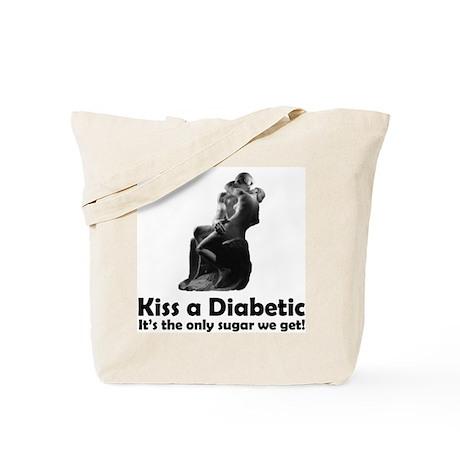 Kiss a Diabetic Tote Bag