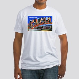 Carmel California Greetings (Front) Fitted T-Shirt