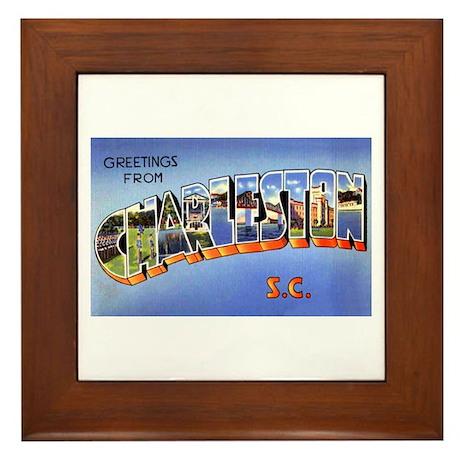 Charleston South Carolina Greetings Framed Tile