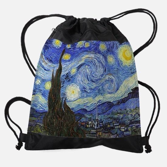 Starry Night - Van Gogh Drawstring Bag