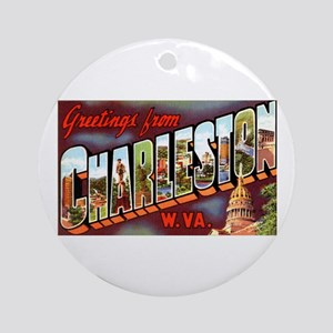 Charleston West Virginia Greetings Ornament (Round