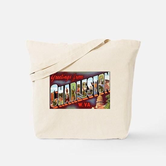 Charleston West Virginia Greetings Tote Bag
