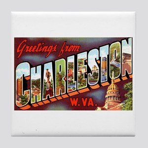 Charleston West Virginia Greetings Tile Coaster