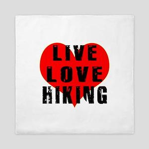 Live Love Hiking Queen Duvet