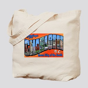 Charlotte North Carolina Greetings Tote Bag
