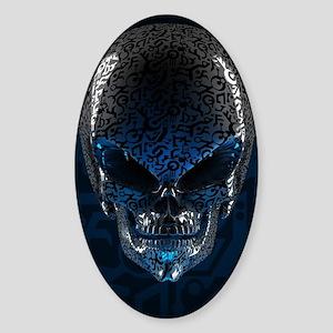 Alien Skull Sticker (Oval)