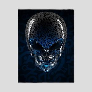 Alien Skull Twin Duvet Cover