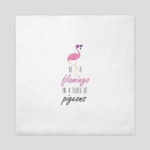 Be A Flamingo Queen Duvet